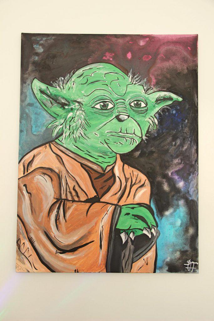 Jugendzimmer Jungs einrichten Meister Joda Star Wars EasyArts
